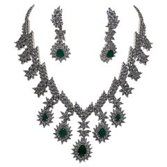 Elegant CZ Necklace & Earring Suite