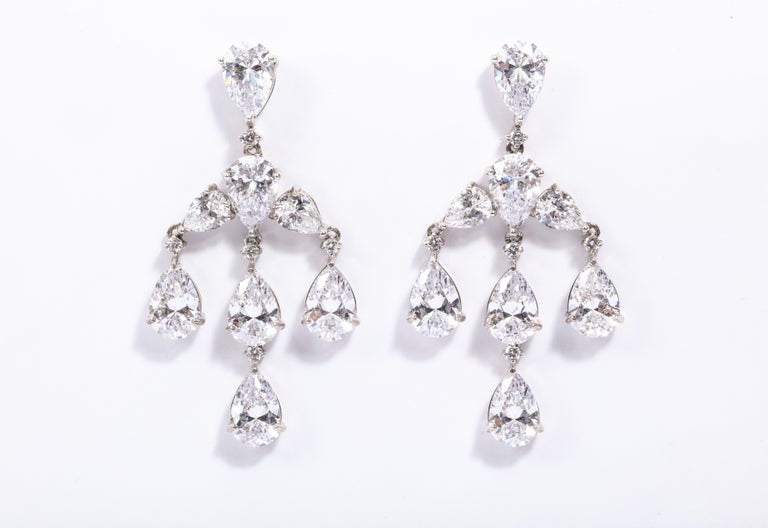 Elegant CZ Sterling Silver Antique Style Dangling Post Earrings 2 1/2 inches long  1 1/2 inches wide
