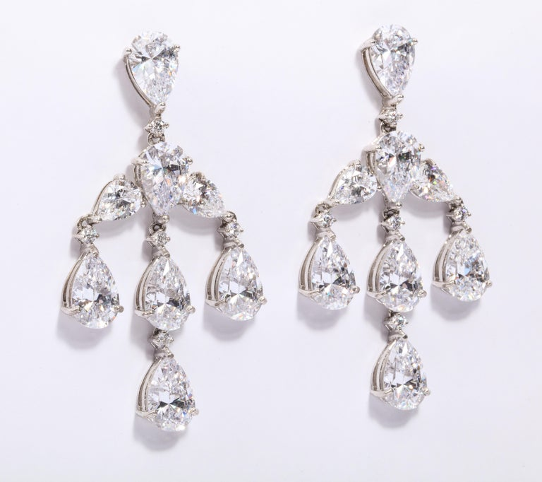 Modern Elegant CZ Sterling Silver Antique Style Dangling Earrings For Sale