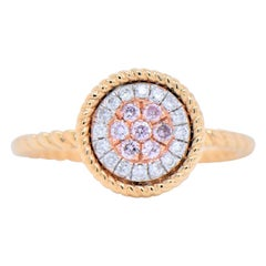 Elegant Dainty Round Shaped Clustered Stones with a 14 Karat Yellow Gold