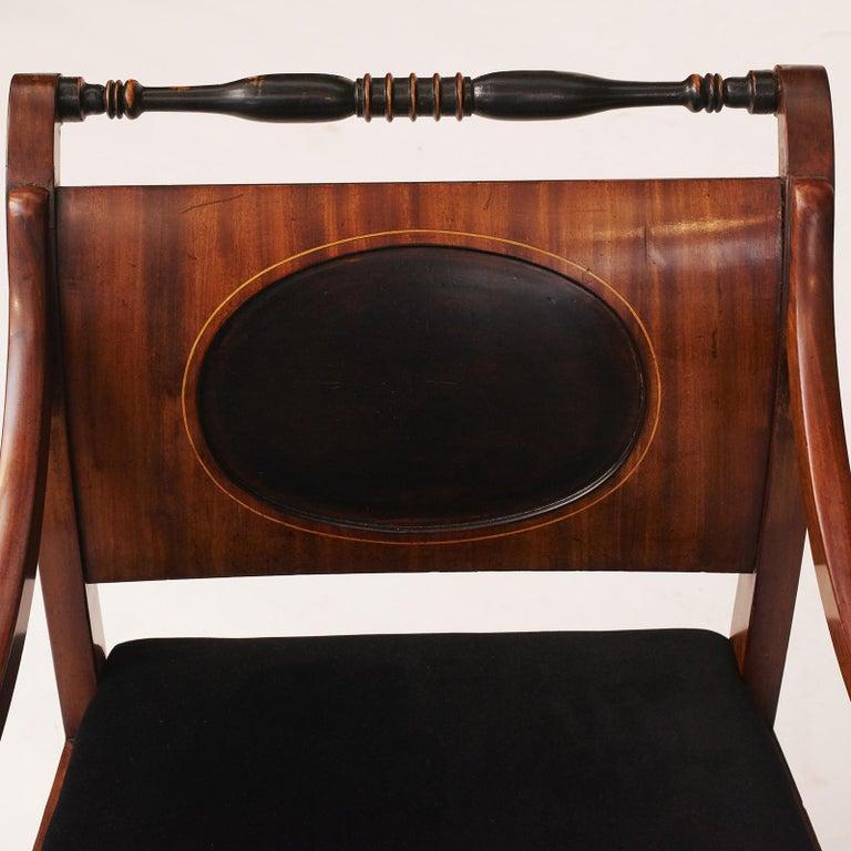 Elegant Danish Empire Armchair, circa 1810 For Sale 1