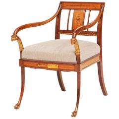 Elegant Danish Empire Armchair, circa 1810