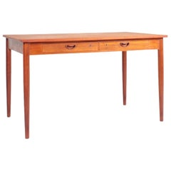 Elegant Danish Midcentury Desk in Teak Designed by Hvidt & Mølgaard, 1960s