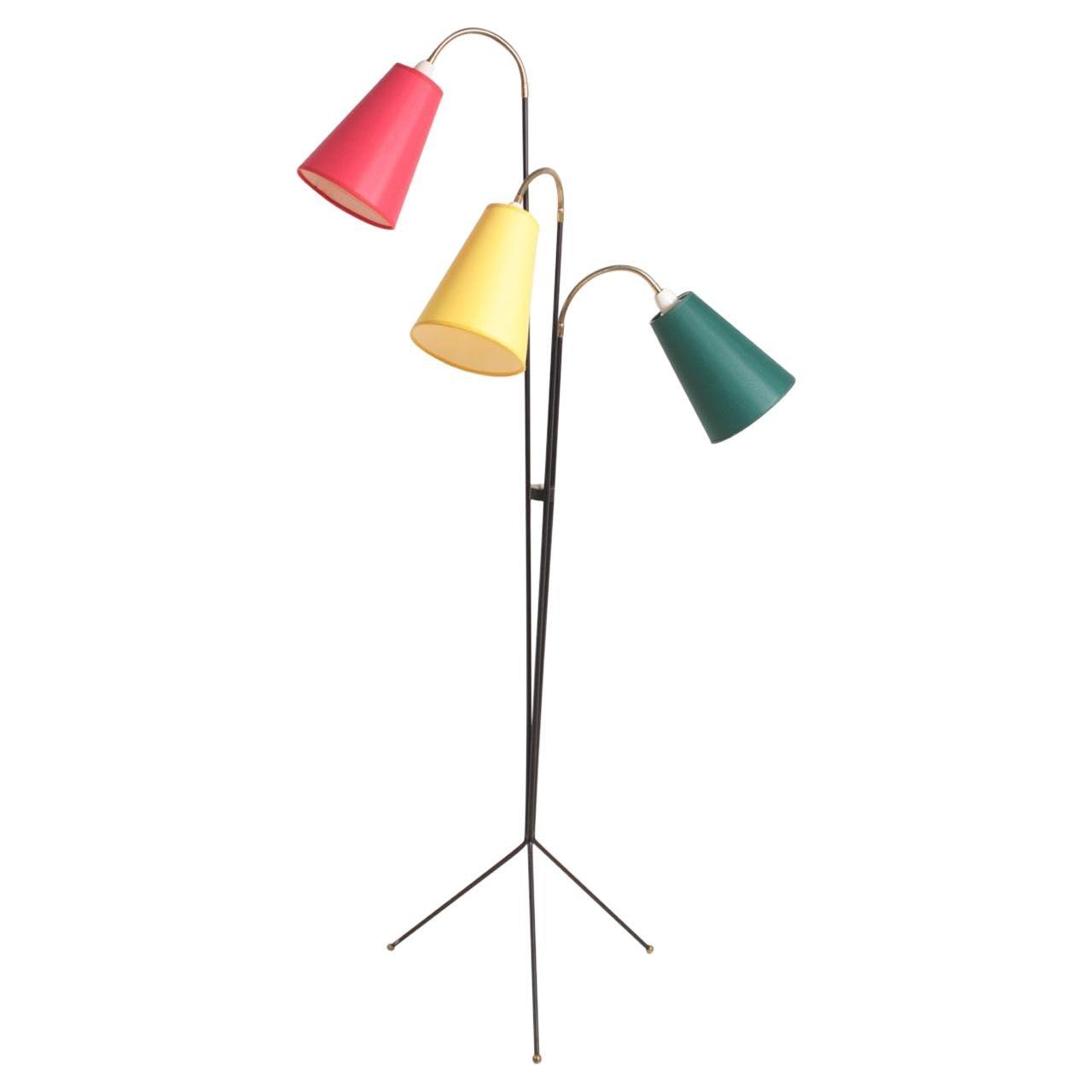 Elegant Danish Midcentury Floor Lamp by Holm Sorensen, Danish Design, 1950s