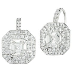 Elegant Diamond Hanging Earrings