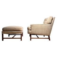Elegant Edward Wormley Lounge Chair with Ottoman for Dunbar