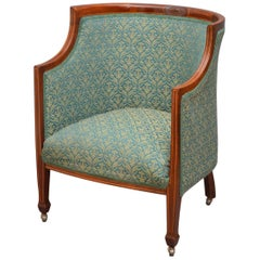 Elegant Edwardian Armchair in Mahogany