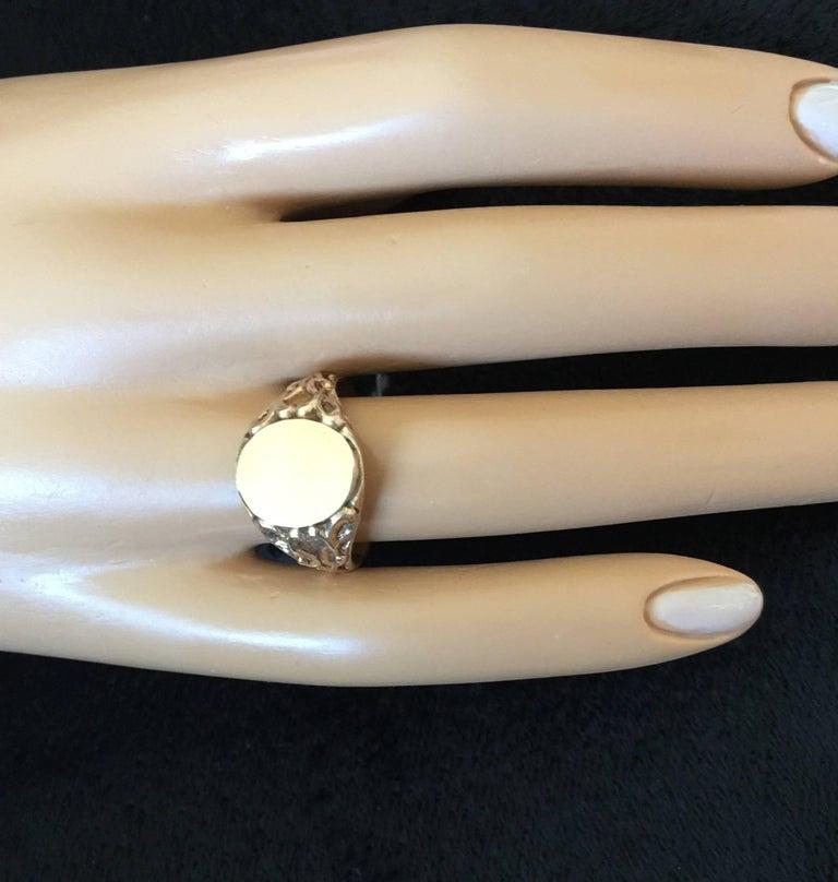Elegant Edwardian Gold Signet Ring For Sale 3