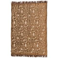 Elegant Embroidered Velvet Tablecloth or Plaid