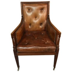 Elegant Empire Armchair / Lounge Chair, England Victorian Mahogany
