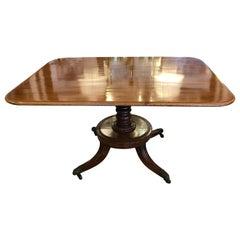 Elegant English 19th Century Mahogany George III Flip Top Dining Table