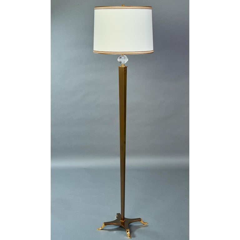 French Elegant Floor Lamp by Dominique, France, 1950s For Sale