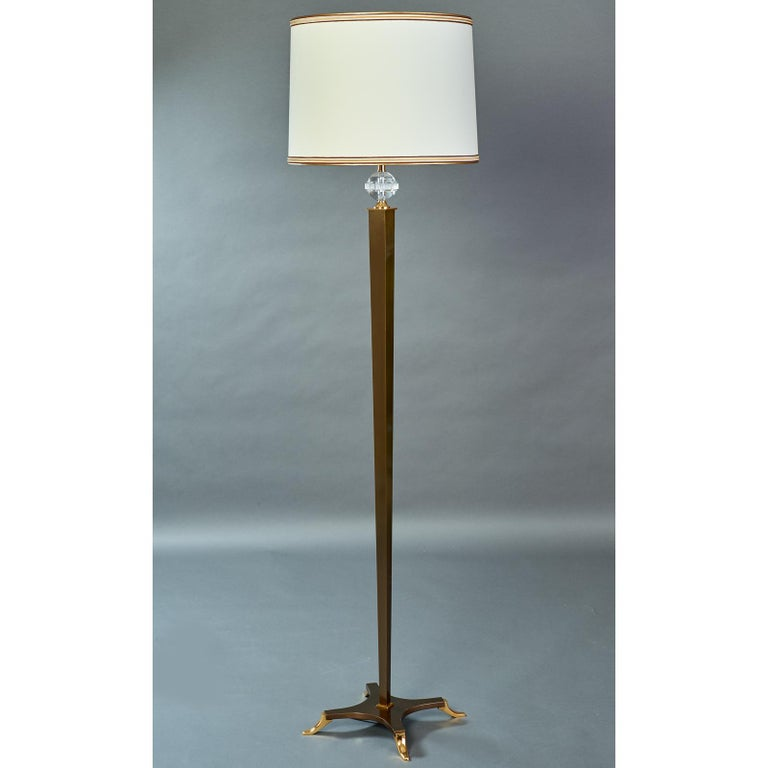 Elegant Floor Lamp by Dominique, France, 1950s In Excellent Condition For Sale In New York, NY