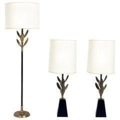 Elegant Floriform Lamps by Stiffel