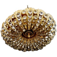 Elegant Flush Mount Crystal Light