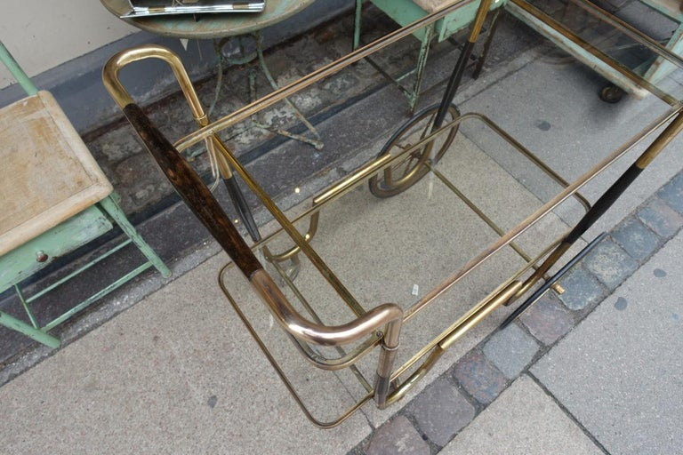 Mid-20th Century Elegant French 1930s Bar Cart For Sale