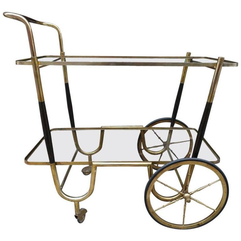 Elegant French 1930s Bar Cart For Sale