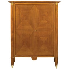 Elegant French Art Deco Cherrywood Cabinet in the Manner of Andre Arbus