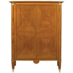 Elegant French Art Deco Cherrywood Cabinet