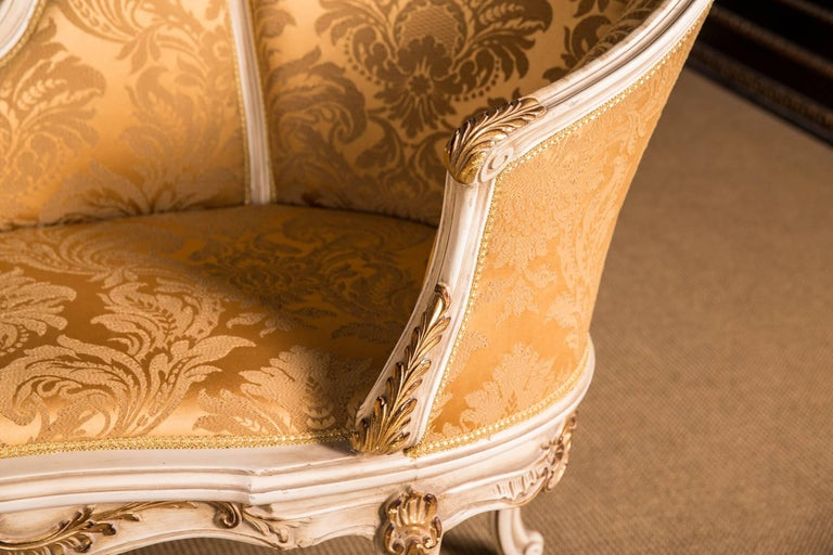 20th Century Elegant French Chaise Longue in Louis Quinze Style For Sale