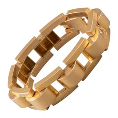 Elegant French Gold Tank Bracelet