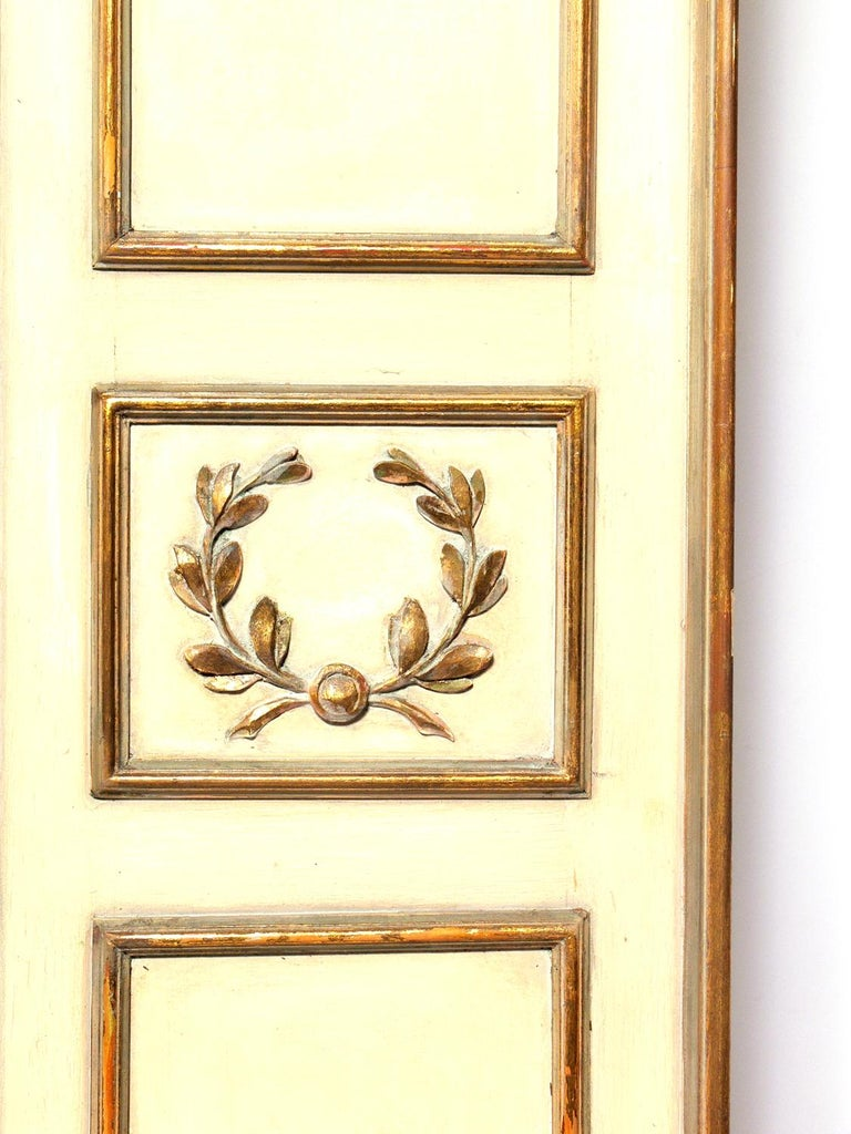 Elegant French Ivory and Gilt Folding Screen In Good Condition For Sale In Atlanta, GA