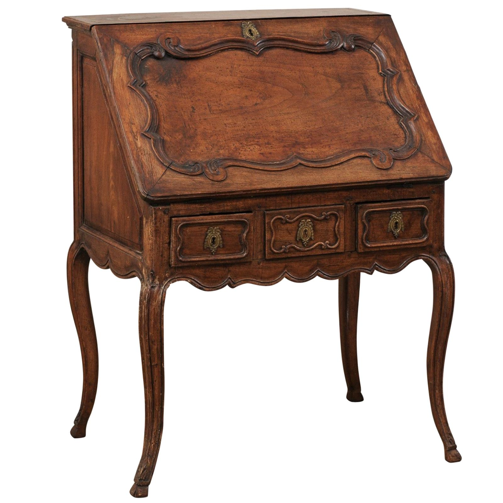 Elegant French Louis XV Period Secretary Writing Desk with Hidden Compartment