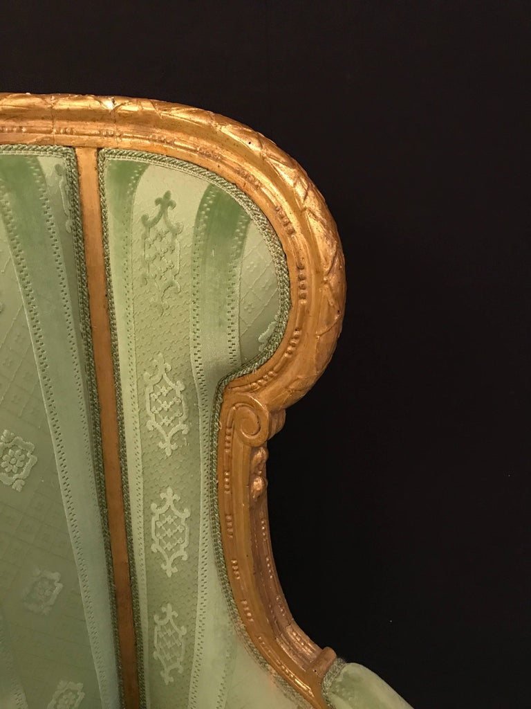 Elegant French Louis XVI Giltwood Armchair or Bergère, 1780 In Good Condition For Sale In Rome, IT
