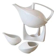 Elegant Futuristic Friesland Porcelain Tea Set Vintage, German