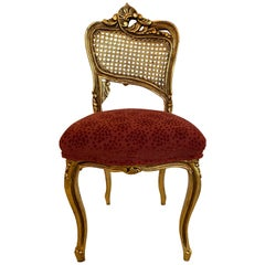 Elegant Gem of a Giltwood and Caned French Chair