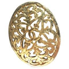 Elegant Gold Tone Chanel Broach