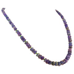 Elegant Graduated Tanzanite Necklace