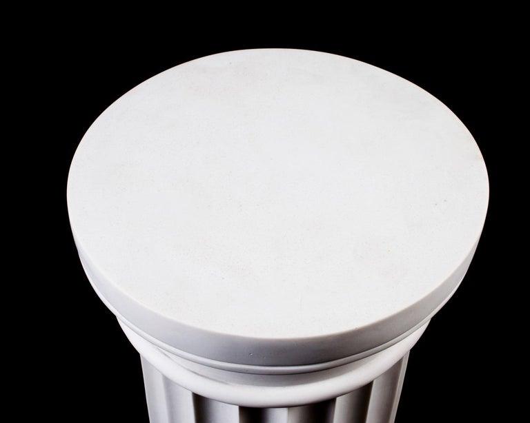 Late 20th Century Elegant Grecian Marble Doric Column Pedestal For Sale