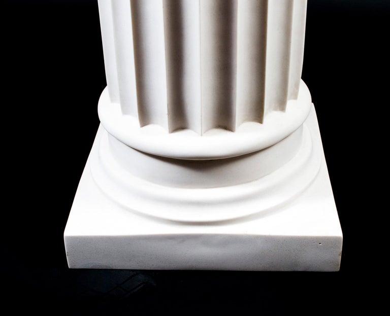 Elegant Grecian Marble Doric Column Pedestal For Sale 1
