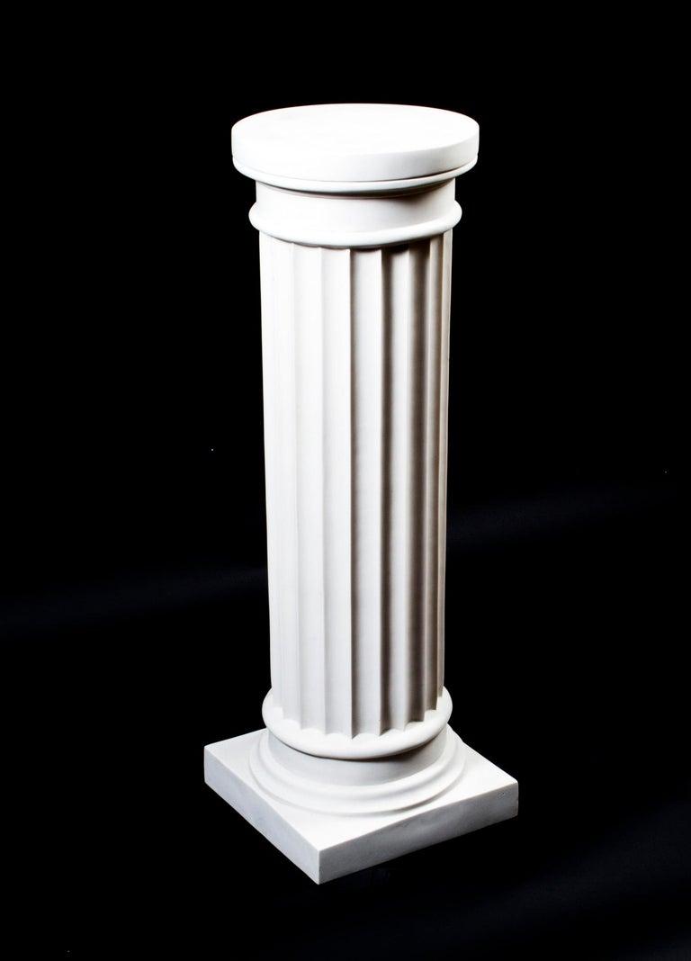 Elegant Grecian Marble Doric Column Pedestal For Sale 3