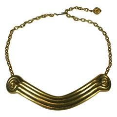 Elegant Greek Style Column Necklace