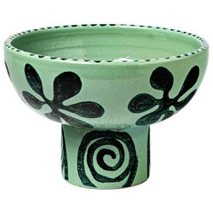 Elegant Green Ceramic Table Lamp Boleslaw Danikowski 1950 Lighting Design