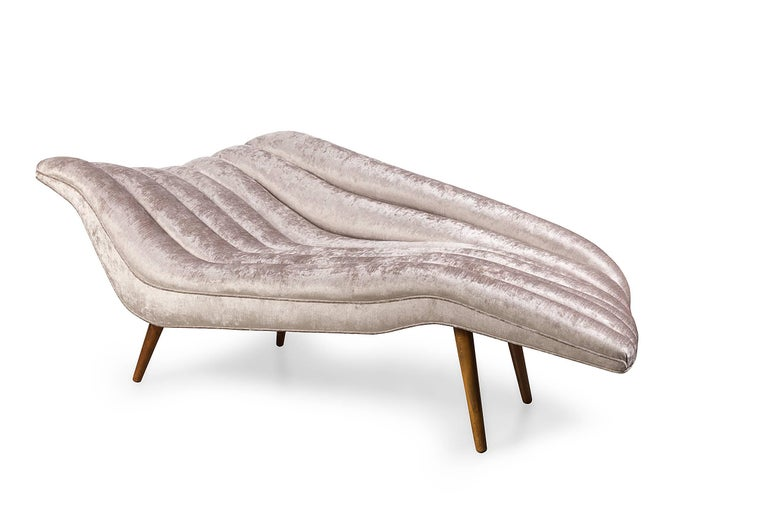 The chicest chaise imaginable. It is a piece of functional art, both beautiful and comfortable.