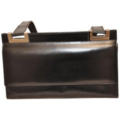 Elegant Gucci Black Leather Handbag
