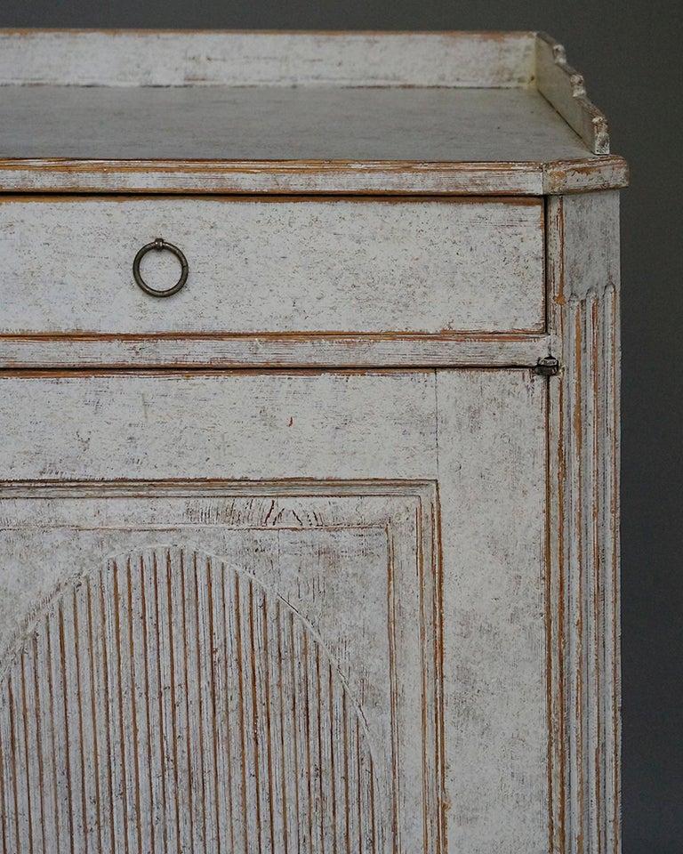 Hand-Painted Elegant Gustavian Sideboard