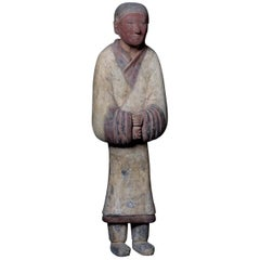 Elegant Han Dynasty Terracotta Warrior - China '206 BC - 220 AD'