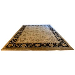 Elegant Handmade in India Wool Oriental Area Rug in the Serapi Style