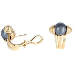 Elegant Hematite and Gold Earrings