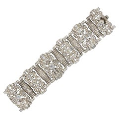 Elegant Important 48+ Carat Diamonds Platinum Bracelet