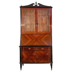Elegant Italian Cabinet Bookcase Attributed to Paolo Buffa, 1950s