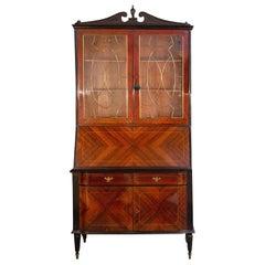 Elegant Italian Cabinet Bookcase Attributed to Paolo Buffa, 1950s