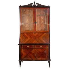 Elegant Mid-Century Italian Cabinet Bookcase, 1950s
