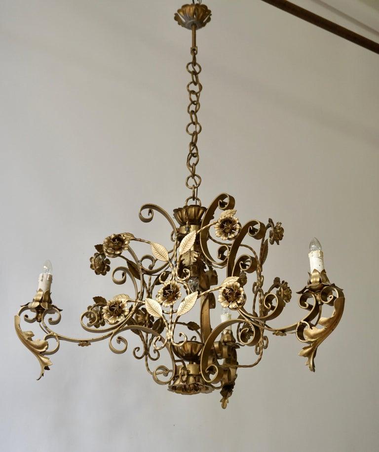 20th Century Elegant Italian Chandelier For Sale