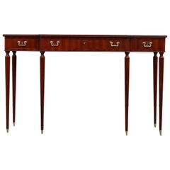 Elegant Italian Console of the Ducrot Manufacture in Mahogany with Three Drawers