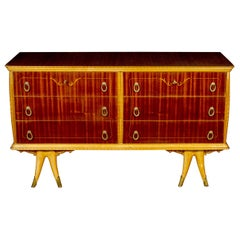Elegant Italian Design Art Deco Commode 1940 Attributed to Osvaldo Borsani